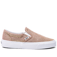 Vans Classic Slip On Sneaker in Rose Gold & True White