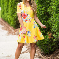 Never Been Sweeter Dress, Yellow