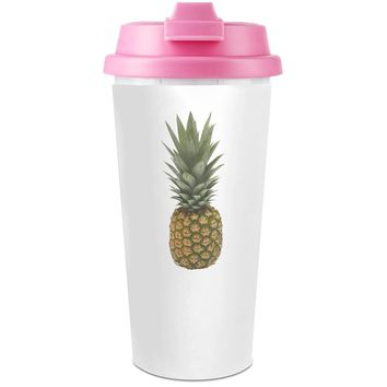 Ananas Slogan   Plastic Travel Coffee Cup - 450 ml - Enjoy Your Drinks Everywhere