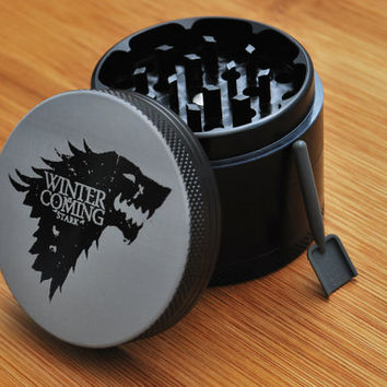California Sea // Game of Thrones House Stark // 4 piece herb Grinder // Laser Engraved