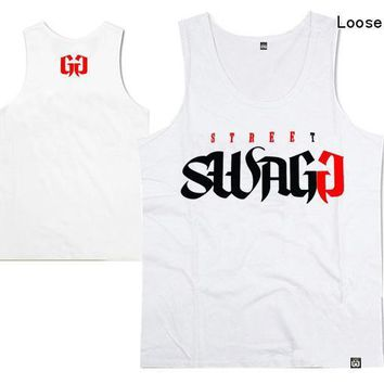Hot !new arrival casual hip hop o-neck swagg undershirt handsome for men and women loose plus size xxxl  suitable top quality