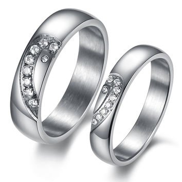 New Arrival Gift Shiny Jewelry Titanium Couple Korean Stylish Fashion Accessory Gifts Ring [10657624711]