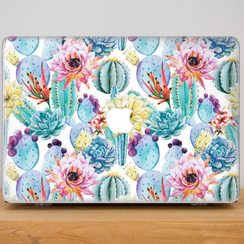 Macbook pro Case Macbook pro 13 Case Macbook Air 13 Case Cactus Pattern Macbook Air 11 Case MacBook Pro macbook cover MacBook Case Laptop