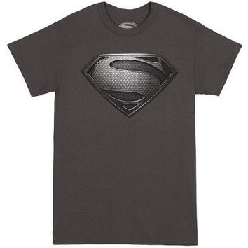 DC Comics Superman Man Of Steel Logo Licensed Adult T-Shirt