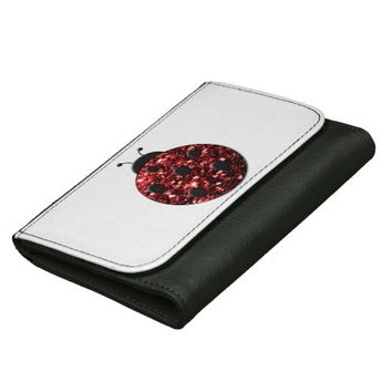 Beautiful Sparkling red sparkles Ladybird Ladybug Wallet