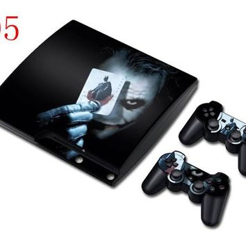 For Bat Joker Styke Decal Sticker For PS3 Slim Console Controller For Playstation PS 3 Skin