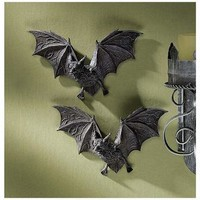 The Vampire Bats of Castle Barbarosa Wall Sculptures: Set of 6 - Gothic Wall Decor - Medieval & Gothic - Design Toscano