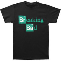 Breaking Bad Men's  Logo Slim Fit T-shirt Black Rockabilia