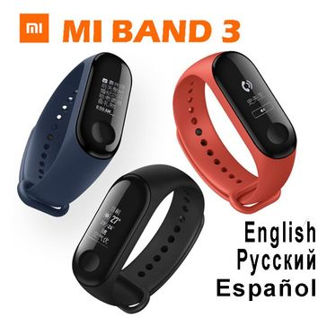 Original Xiaomi mi band 3 miband 3 fitbits instant message callerID waterproof OLED touch screen Weather mi band 2 up mi fit 3