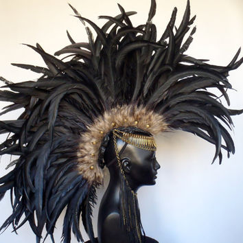 CUSTOM  ORDER Large Feather Mohawk by MissGDesignsShop on Etsy