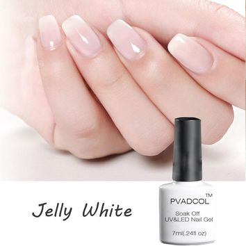 PVADCOL 7ml Opal Jelly Gel White Nail Gel Semi-transparent Soak Off French Manicure Nail Art UV Gel Polish Varnish