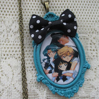 Sailor Moon Necklace - OUTER SCOUTS - Sailor Pluto, Sailor Neptune, Sailor Uranus & Sailor Saturn