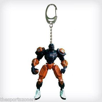 "Chicago Bears NFL Fox  Robot 3"" Poseable Keychain Version 2.0 Figure"