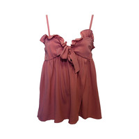 Chloe Rose Pink Silk Babydoll Top