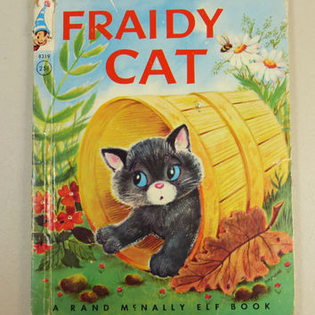Fraidy Cat, 1959 Rand McNally Elf Book, Finding Courage Story Book, First Edition Vintage Childrens Book