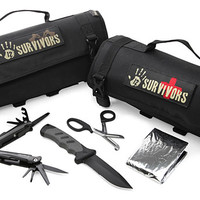 12 Survivors Roll Up Survival Kits - Medic Kit