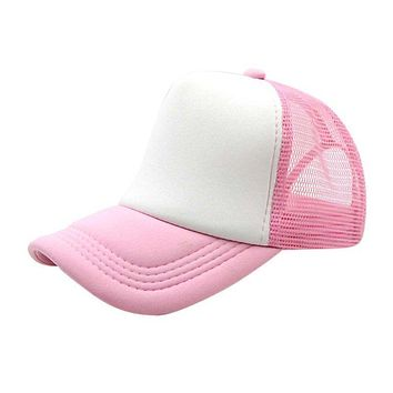 Summer Adjustable Child Solid Casual Hats For New Classic Trucker Kids Baseball Mesh Cap Sun Hat