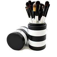 Morphe 12 Piece Black and White Travel Brush Set - Set 706