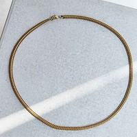 Profound Aesthetic Gold Curb Necklace- Gold One