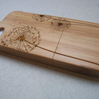 Iphone 5 case - wooden cases bamboo, cherry and walnut wood - Dandelion