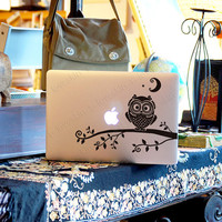 owl-Decal for Macbook Pro, Air or Ipad Stickers Macbook Decals Apple Decal for Macbook Pro / Macbook Air 1172