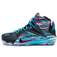 NIKE LEBRON XII - BLACK/PINK POW/BLUE LAGOON/BLACK | Undefeated
