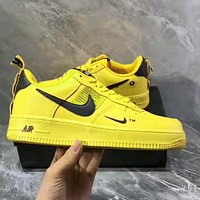 Nike Air Force 1 Low Tide brand low men and women casual sports shoes yellow