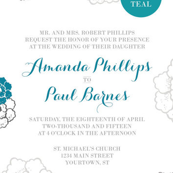 Printable Customized Wedding Set: Invitation
