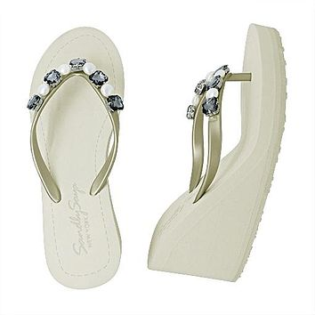 Beach Pearl- Women's High Wedge