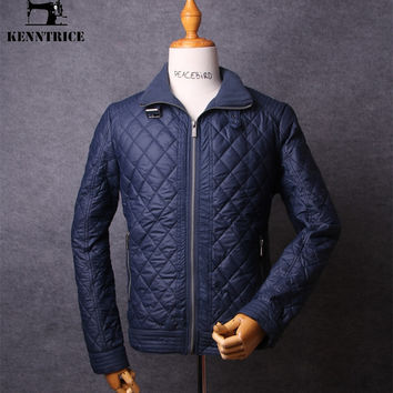 Winter Coat Men Thin Casual Quilted Jacket Slim Fit Stand Collar High Quality Outerwear Men