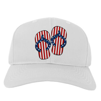 Stars and Stripes Flip Flops Adult Baseball Cap Hat