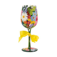 Lolita Wildflowers Wine Glass