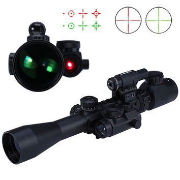 High Quality 3 - 9X40 EG Hunting Tactical Riflescope Red Green Laser Hunting Optics Sniper Scope Sight Rifle Scope For Hunting