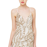 Baby Got Gold Sparkly Dress - White Gold