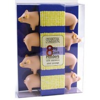 Charcoal Companion Pig Corn Holders, 4 Pairs