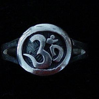 AUM Om Ganesh Ring Hindu Religious Yoga Jewelry Real Genuine Authentic Sterling Silver Pick your size 3 - 14