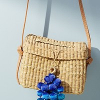 Large Pom Pom Crossbody Bag