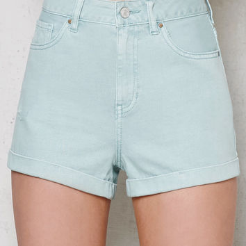 PacSun Wintergreen Cuffed Denim Mom Shorts at PacSun.com