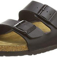 Birkenstock Arizona Classic Birko-Flor Cork Unisex Clogs - Black (Art: 051791)