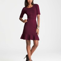 Flared Cotton Sweater Dress