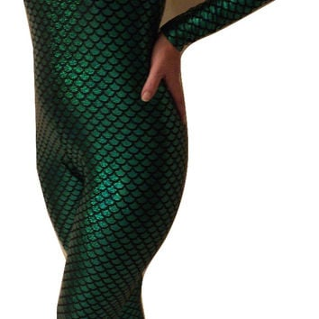 MJCREATION costume mera inspiration footed catsuit Leotard Unitard made to order custom