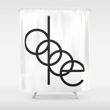 DOPE Shower Curtain by Rui Faria