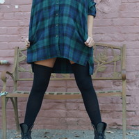 Boyfriend Flannel Tunic Dress