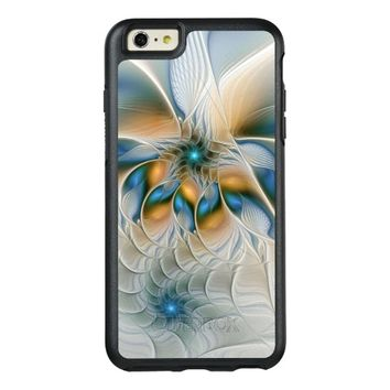 Soaring, Abstract Fantasy Fractal Art With Blue OtterBox iPhone 6/6s Plus Case