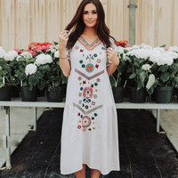 Serena Embroidered Dress in Voilet