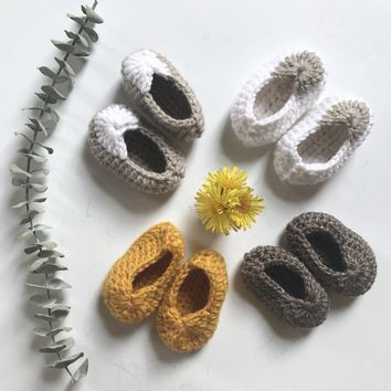 Newborn Crochet Slippers