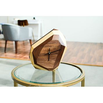 Geometric Clock // Modern Minimalist Wall or Table Clock