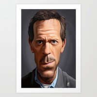 Celebrity Sunday ~ Hugh Laurie Art Print by Rob Snow