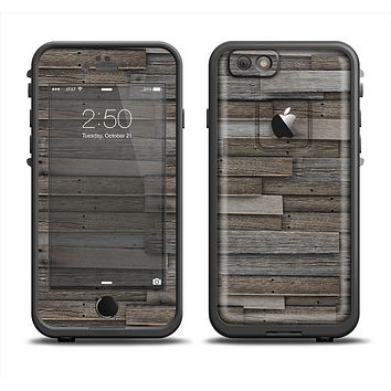 The Overlapping Aged Planks Apple iPhone 6 LifeProof Fre Case Skin Set