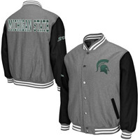 Michigan State Spartans Class Letterman Jacket – Gray